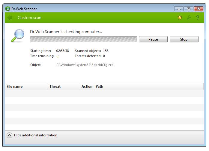 Dr.Web Anti-virus full screenshot