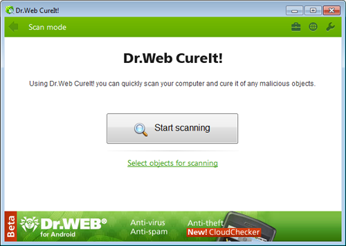 Full Dr.Web CureIt! screenshot
