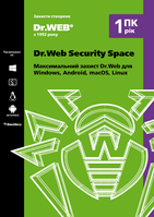 Dr.Web Security Space, 1ПК/1 год #drweb