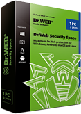Dr.Web Security Space 2 PCs/Macs/2 years