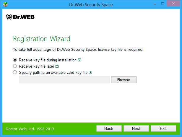 Антивирус Dr.web 7.0 Ключ