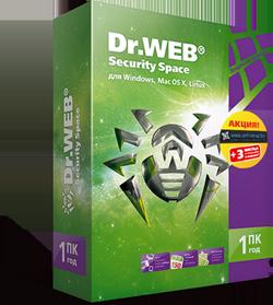 3 месяца в подарок для покупателей Dr.Web Security Space (1 ПК / 1 год)