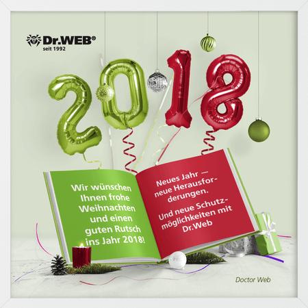 Wir wünschen Ihnen frohe Weihnachten und einen guten Rutsch ins Jahr 2018! #drweb