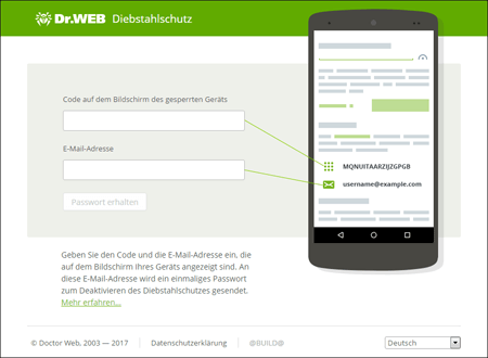 screenshot Anti-theft #drweb