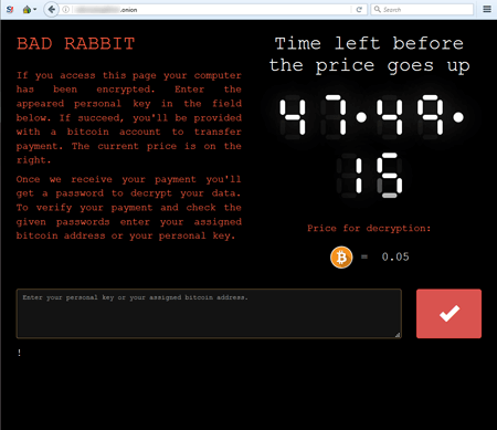 screenshot Trojan.BadRabbit #drweb