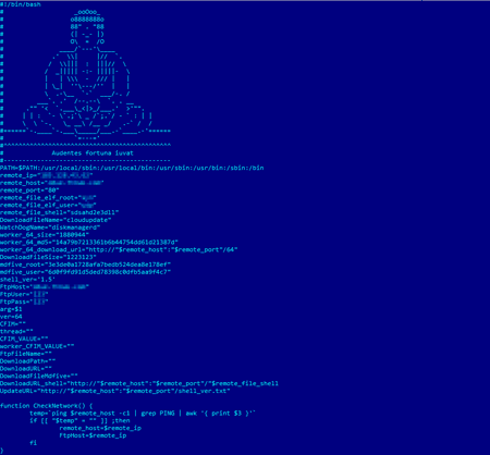 screenshot Linux.BtcMine.174 #drweb