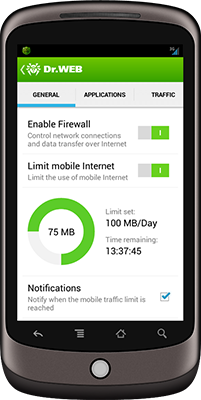 Firewall added to Dr.Web 9.0 for Android